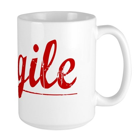 Cargile, Vintage Red Large Mug