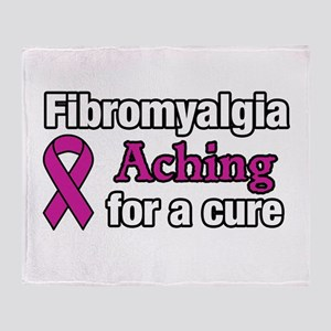 Fibromyalgia Aching For A Cure Aware Throw Blanket