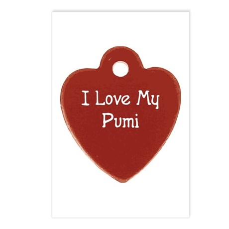 Love My Pumi Postcards (Package of 8)