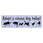 Adopt A Rescue Dog Bumper Sticker