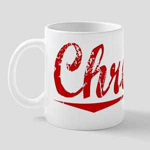Chretien, Vintage Red Mug