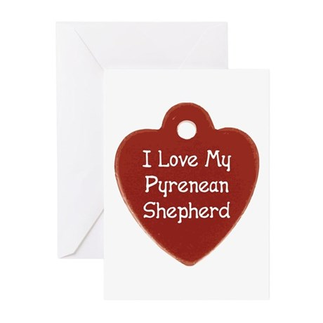 Love My Pyrenean Greeting Cards (Pk of 10)