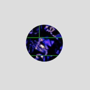 crystal garden blue Mini Button