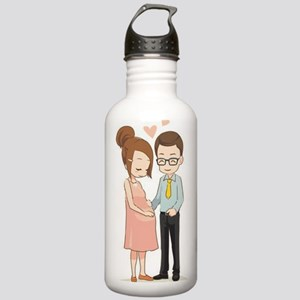 Were Pregnant Stainless Water Bottle 1.0L