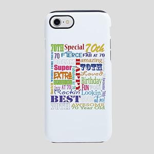 70th Birthday Typography iPhone 7 Tough Case