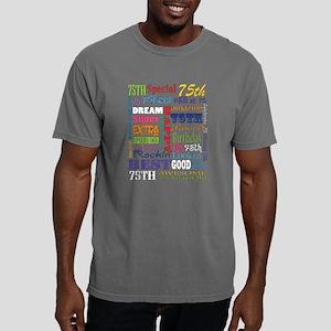 75th Birthday Typography Mens Comfort Colors Shirt
