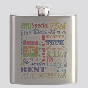75th Birthday Typography Flask