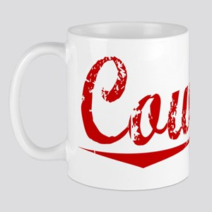 Coward, Vintage Red Mug