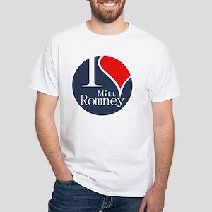 I Heart Romney White T-Shirt