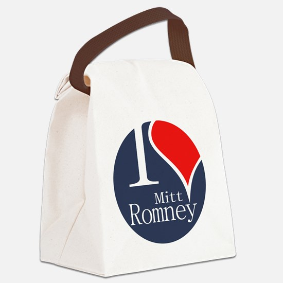 I Heart Romney Canvas Lunch Bag