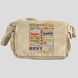 80th Birthday Typography Messenger Bag