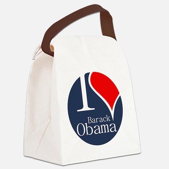 I Heart Obama Canvas Lunch Bag