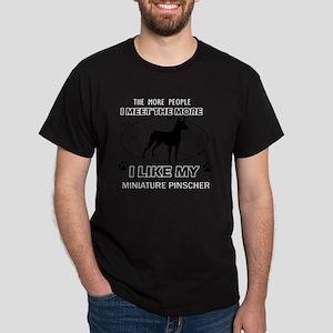 Miniature Pinscher Designs Dark T-Shirt