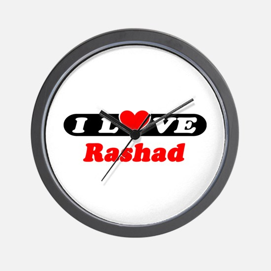 I Love Rashad Wall Clock