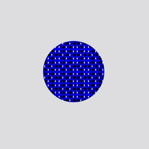 Blue Black Shapes Perception Mini Button