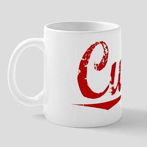 Curtin, Vintage Red Mug