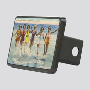 Vintage Long Island Beach  Rectangular Hitch Cover