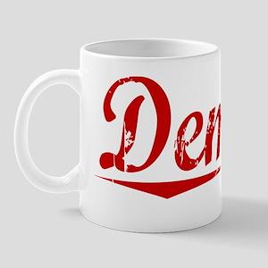 Deming, Vintage Red Mug