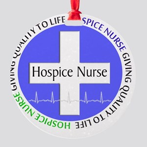 Hospice Nurse giving quality life Round Ornament