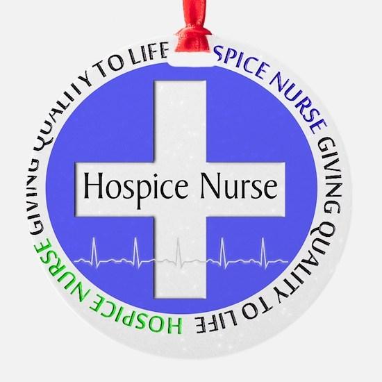 Hospice Nurse giving quality life Ornament