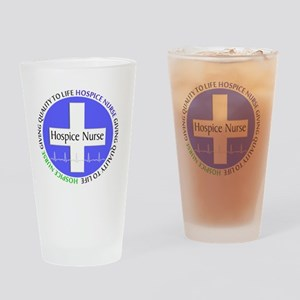 Hospice Nurse giving quality life Drinking Glass