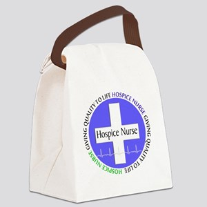 Hospice Nurse giving quality life Canvas Lunch Bag