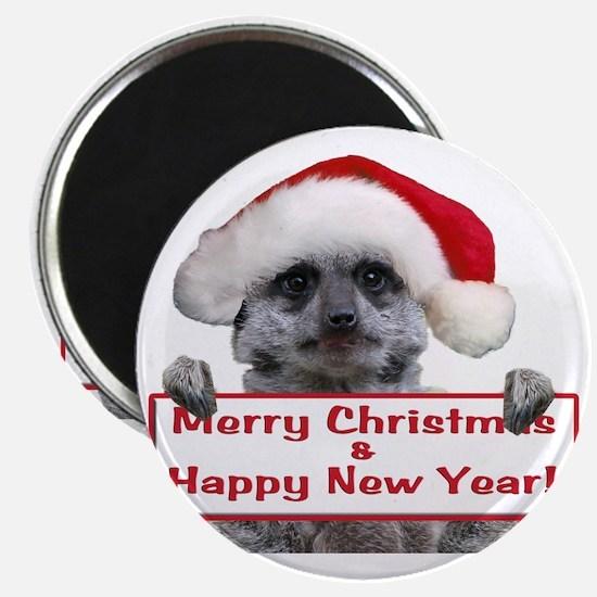 Christmas Meerkat Magnet
