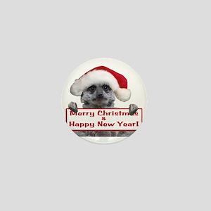 Christmas Meerkat Mini Button