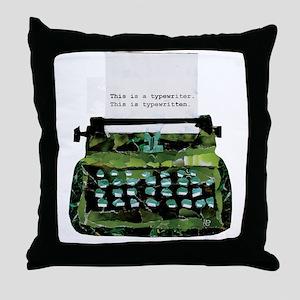 Ripped Typewriter Throw Pillow