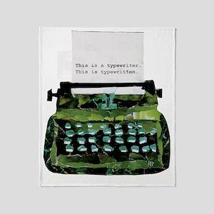 Ripped Typewriter Throw Blanket