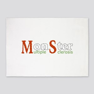 Multiple Sclerosis Monster MS Aware 5'x7'Area Rug