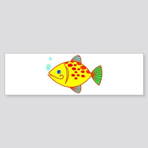 Yellow Fish Bumper Sticker
