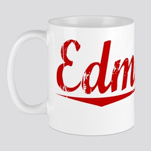 Edmonds, Vintage Red Mug