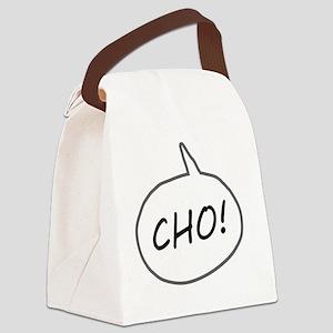 Cho on Dark Canvas Lunch Bag