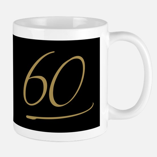 Black & Gold 60th Birthday Mug