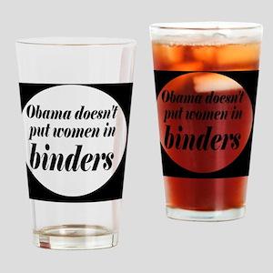 Obamabinderbutton Drinking Glass
