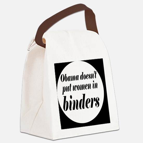 Obamabinderbutton Canvas Lunch Bag