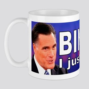 Anti-Romney sticker Mug