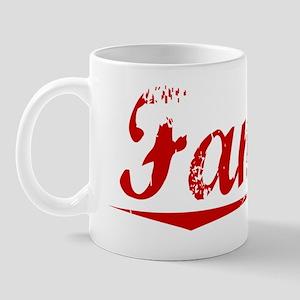 Fannin, Vintage Red Mug