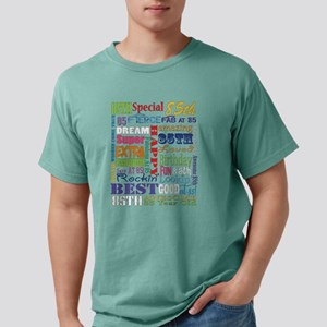 85th Birthday Typography Mens Comfort Colors Shirt