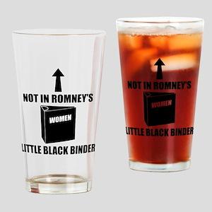 Romneys Little Black Binder of Wome Drinking Glass
