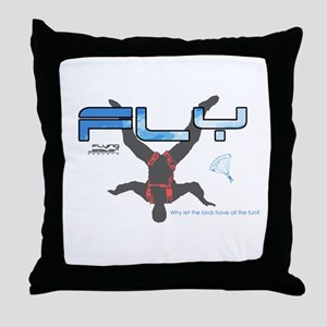 Fly Freefly Skydiving Throw Pillow