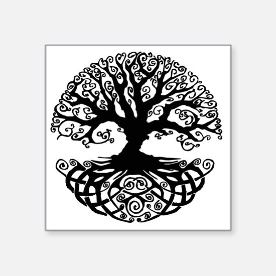"Tree of Life Square Sticker 3"" x 3"""