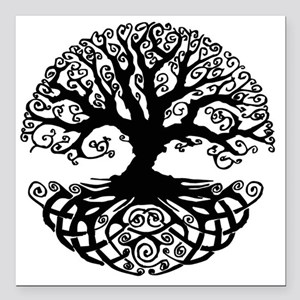 "Tree of Life Square Car Magnet 3"" x 3"""