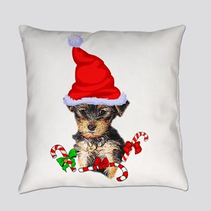 Yorkshire Terrier Christmas Gifts Everyday Pillow