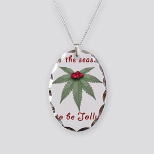 Tis the Season to be Jolly Hol Necklace Oval Charm