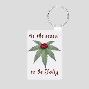 Tis the Season to be Jolly Aluminum Photo Keychain