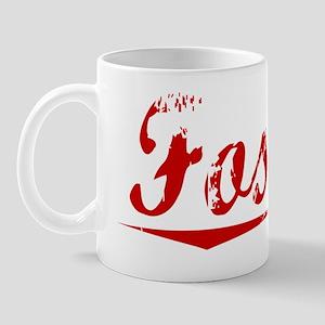 Fossett, Vintage Red Mug
