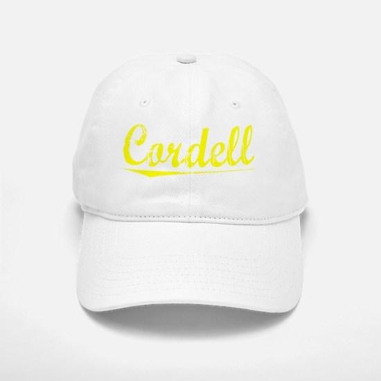 Cordell, Yellow Baseball Baseball Cap