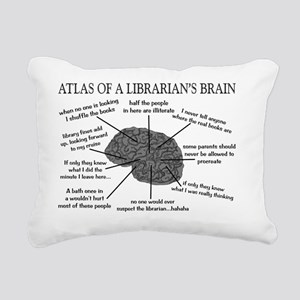atlas of a librarians br Rectangular Canvas Pillow